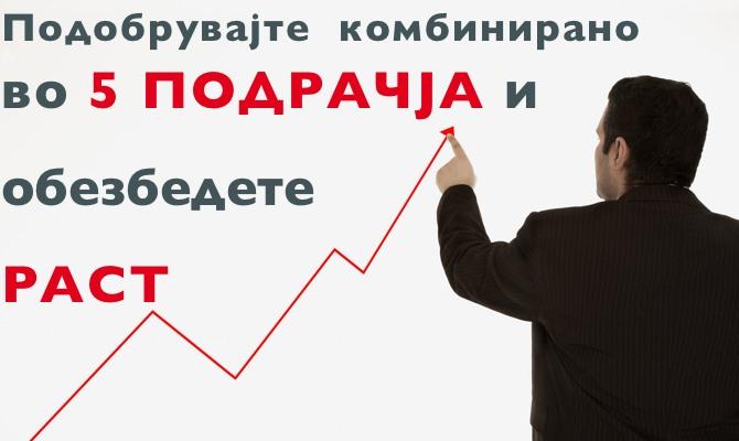 5 подрачја за раст на бизнис