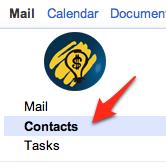 Контакти во Gmail