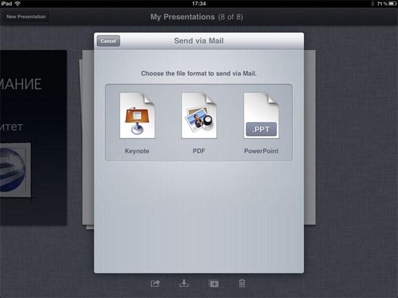Keynotes за iPad