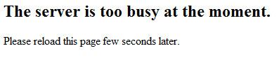 Busy Server